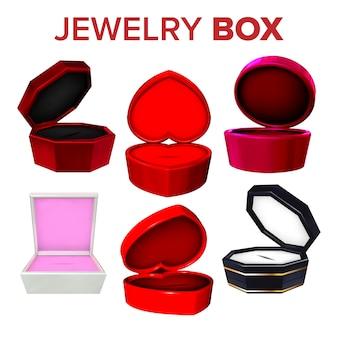 Coleção de elegância da caixa de jóias