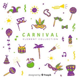 Coleção de elemento de carnaval