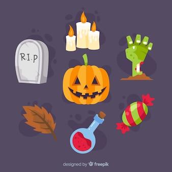 Coleção de elemento de halloween