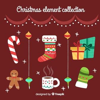 Coleção de elemento de natal