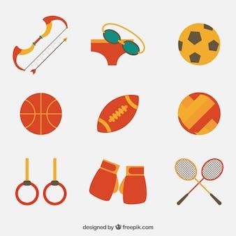 Coleção de elemento esporte