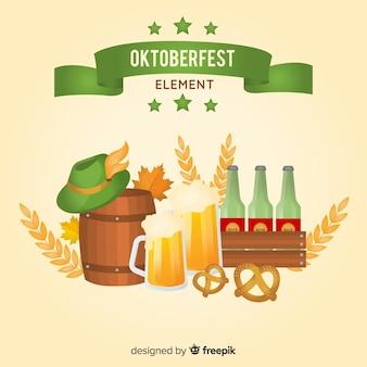 Coleção de elemento tradicional oktoberfest com design realista