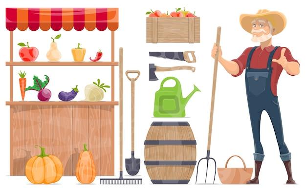Coleção de elementos agrícolas