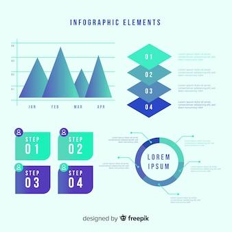 Coleção de elementos coloridos infográfico