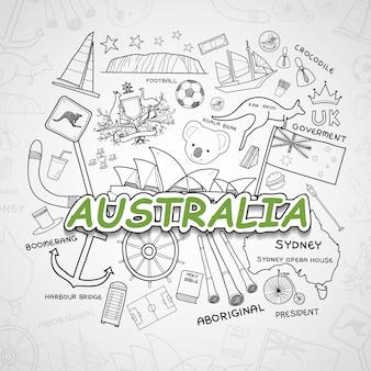Coleção de elementos da austrália