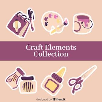 Coleção de elementos de artesanato