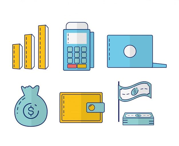 Coleção de elementos de banco on-line