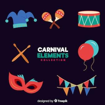 Coleção de elementos de carnaval