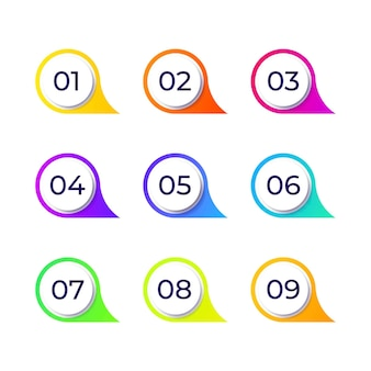 Coleção de elementos de design colorido