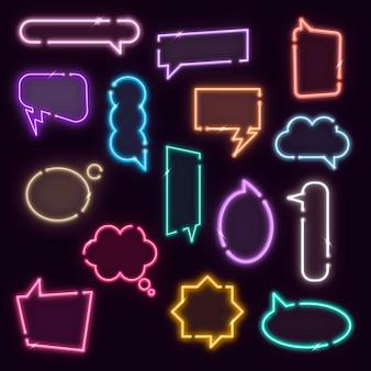 Coleção de elementos de design de balões de fala coloridos