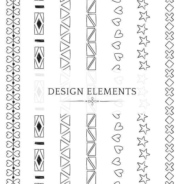 Coleção de elementos de design de linha divisória