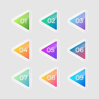 Coleção de elementos de design gradiente