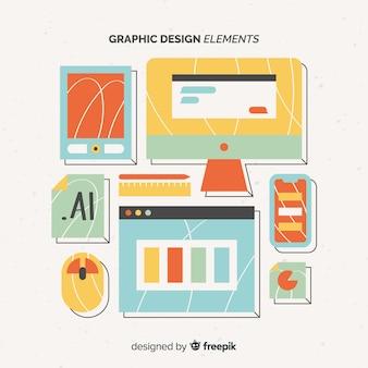 Coleção de elementos de design gráfico