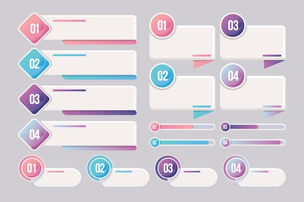 Coleção de elementos de estilo infográfico