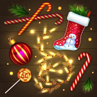 Coleção de elementos de feliz natal