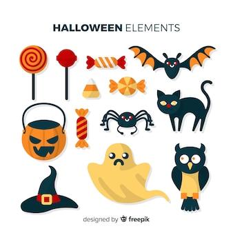 Coleção de elementos de halloween
