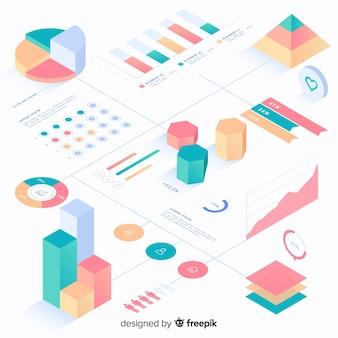 Coleção de elementos de infografia