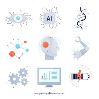 Coleção de elementos de inteligência artificial