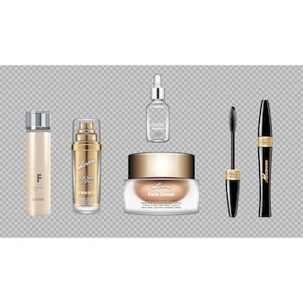 Coleção de elementos de maquiagem