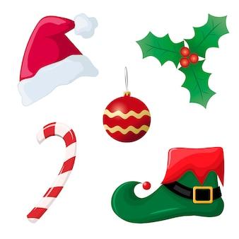 Coleção de elementos de Natal