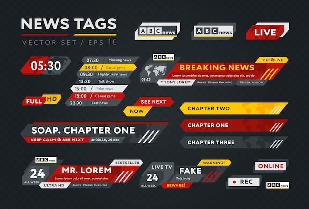 Coleção de elementos de notícias