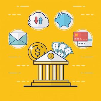 Coleção de elementos de pagamento online