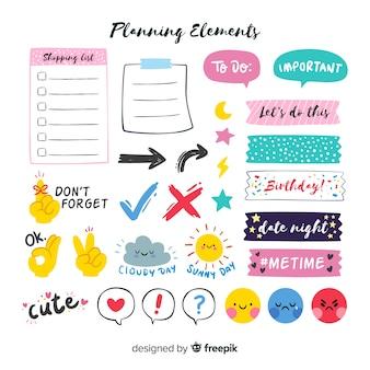 Coleção de elementos de planejamento
