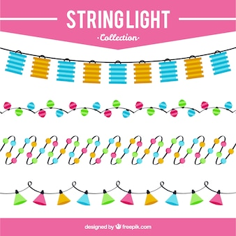 Coleção de elementos decorativos luzes