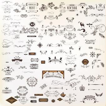 Coleção de elementos decorativos