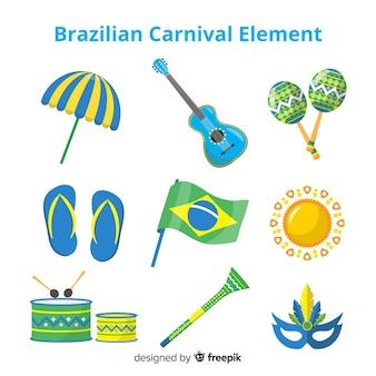 Coleção de elementos do carnaval brasileiro