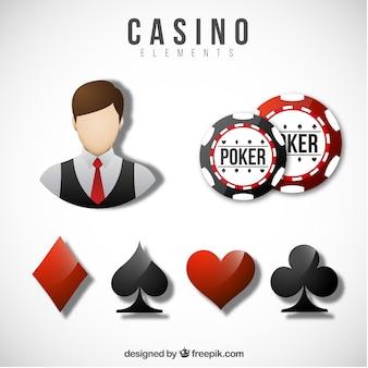 Coleção de elementos do casino