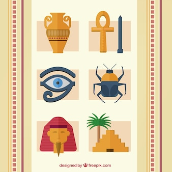 Coleção de elementos do egípcio