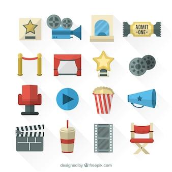 Coleção de elementos do filme planas