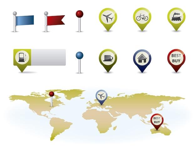 Coleção de elementos do mapa