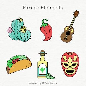 Coleção de elementos do méxico