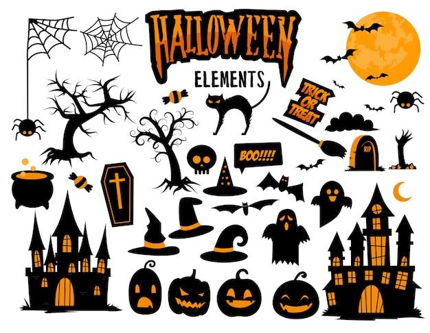 Coleção de elementos do vetor de halloween