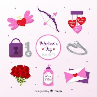 Coleção de elementos dos namorados