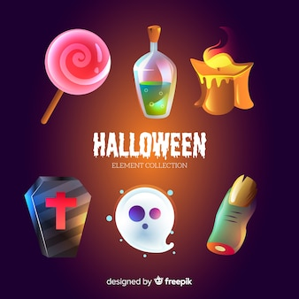 Coleção de elementos engraçados de halloween