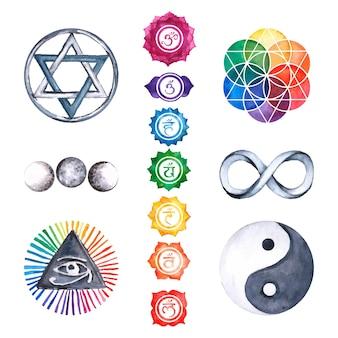 Coleção de elementos esotéricos