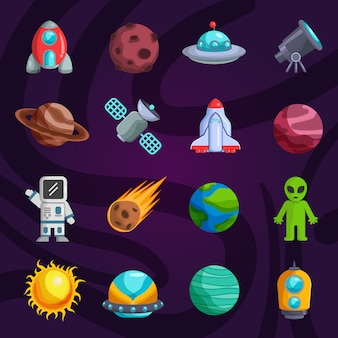 Coleção de elementos galaxy