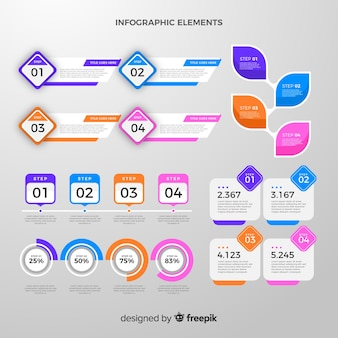 Coleção de elementos infográfico
