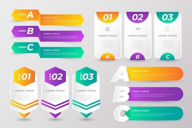 Coleção de elementos infográficos coloridos
