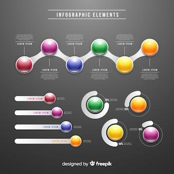 Coleção de elementos infográficos