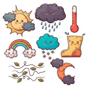 Coleção de elementos meteorológicos