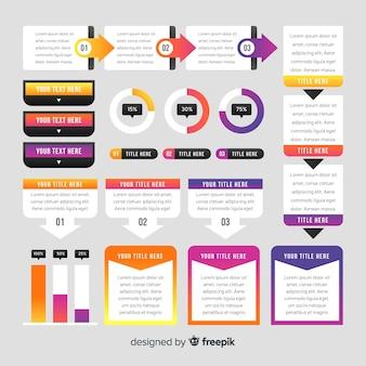 Coleção de elementos modernos infográfico
