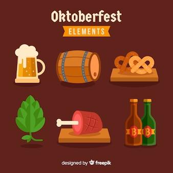 Coleção de elementos oktoberfest design plano