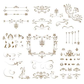 Coleção de elementos ornamentais