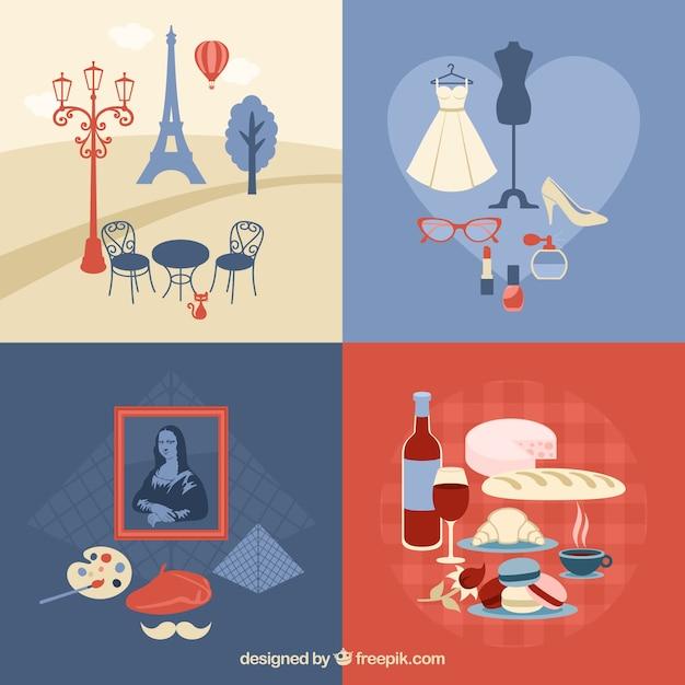 Coleção de elementos paris