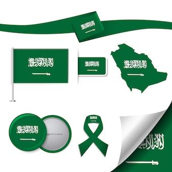 Coleção de elementos representativos árabes sauditas