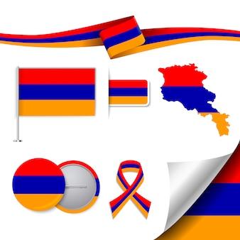 Coleção de elementos representativos da armênia